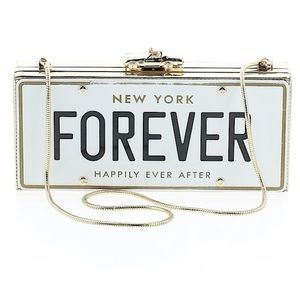 Kate Spade License Plate Forever Clutch